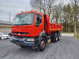 kipper vrachtwagen Renault Kerax 320 6x4 bi-benne boite manuelle 2002