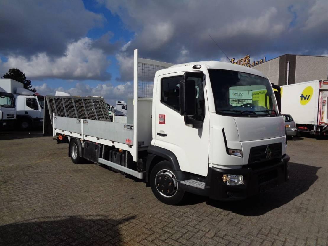 autotransporter vrachtwagen Renault D TK02 + Machine - Auto transport + Euro 6 2015