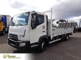 autotransporter vrachtwagen Renault D TK02 + Machine - Auto transport + Euro 5 2015