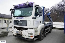 containersysteem vrachtwagen MAN TGA 2 axle lift dumper 2007