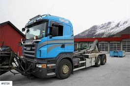 containersysteem vrachtwagen Scania R500 6x2 snow rigged hook truck with lift build. 2007