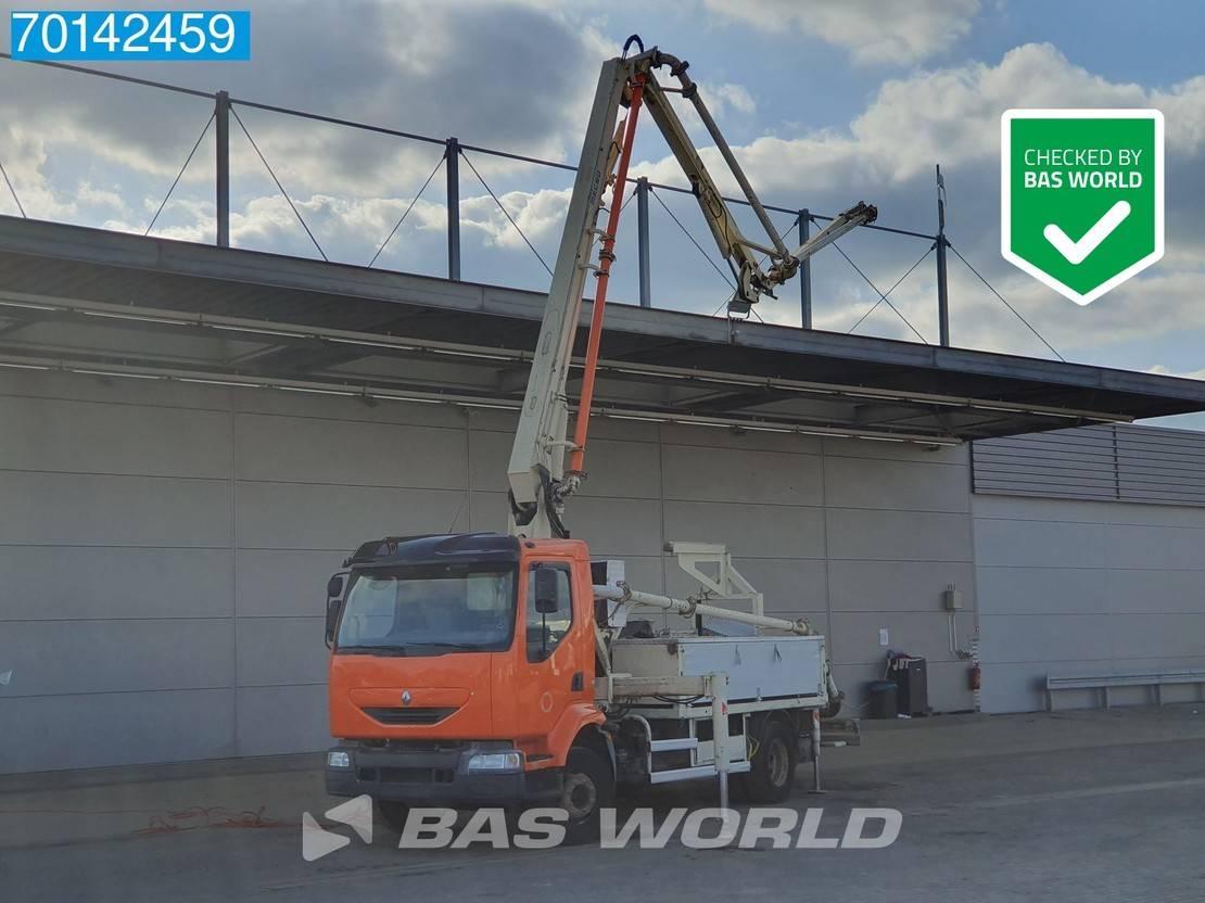 betonpomp vrachtwagen Renault Midlum 210 4X2 Mecbo 18 Meter Pump Remote Manual Steelsuspension 2003