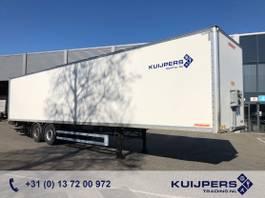 gesloten opbouw oplegger Fruehauf / 2 as SAF Disk / Liftas / Box / Laadklep 2000 kg / APK TUV 11-21 2014