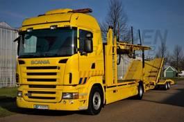 autotransporter vrachtwagen Scania R380 4x2 LL   GS MEPPEL & Trailer 2008