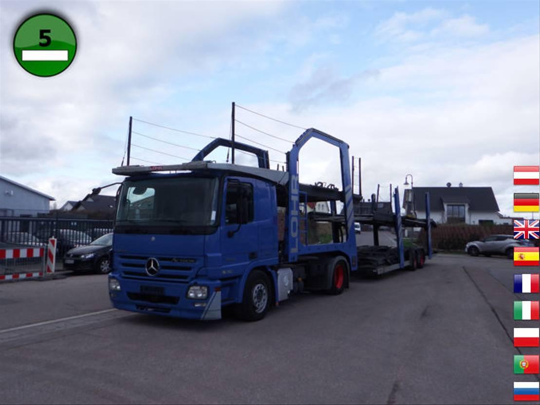 autotransporter vrachtwagen Mercedes-Benz Actros 1844 Klima - Retarder Lohr Eurolohr Lohr 2007