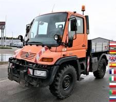 kipper vrachtwagen Unimog U300 KLIMA AHK KOMUNALHYDRAULIK 2006