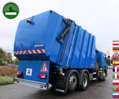 vuilkar camion Scania P320 DB 6x2 MNA Faun 526 Sidepress Rechtslenker 2012