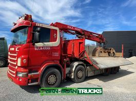 kraanwagen Scania R480 Cable tipper inkl.  Hiab 244 crane inkl. pendel tipper box 2009