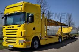autotransporter vrachtwagen Scania R 480 B 4x2 LL TOPLINE Car Transport GS Meppel 2008
