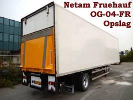 gesloten opbouw oplegger Netam-Fruehauf 1 As Oplegger T.b.v. Stalling en Opslag, OG-04-FR 2000