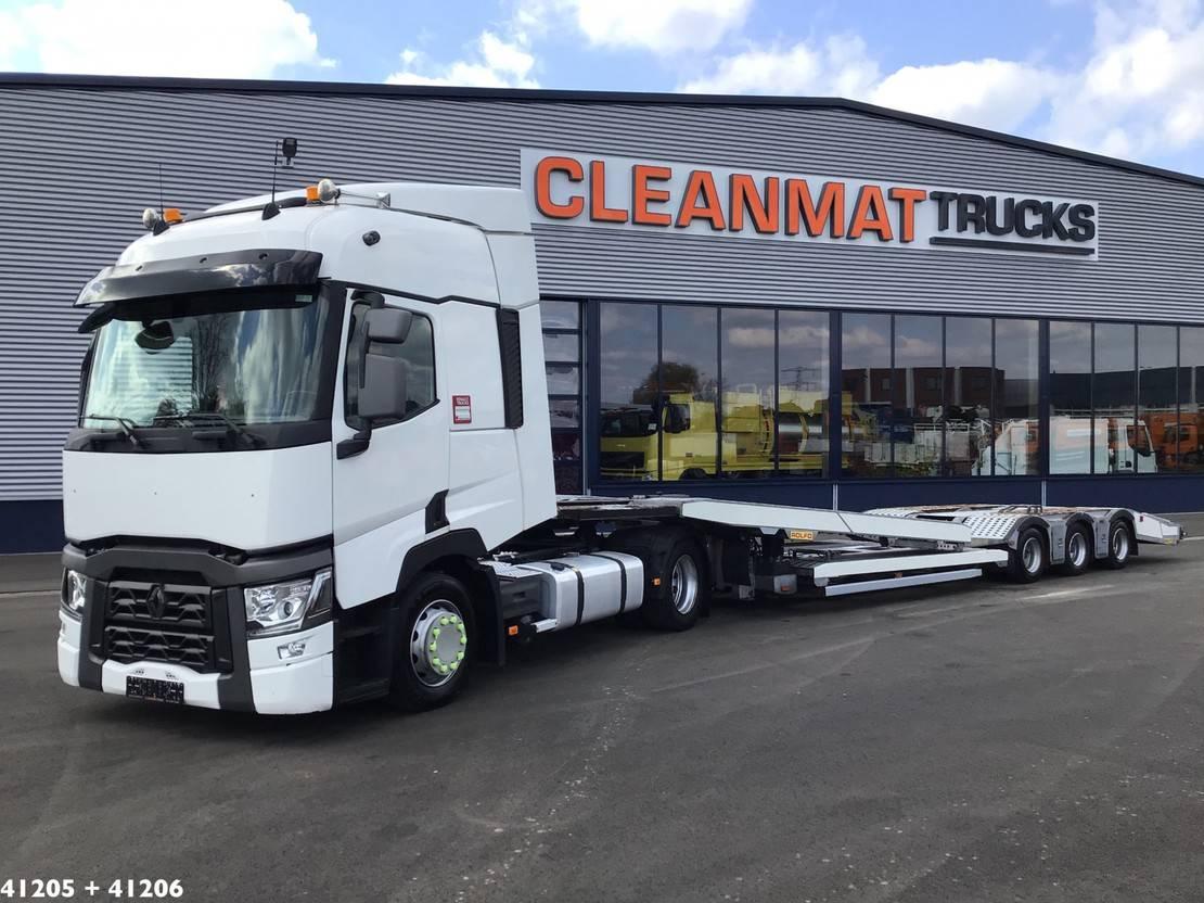 autotransporter vrachtwagen Renault T480 Comfort Plus met Rolfo Centaurus EXT Trucktransporter 2016
