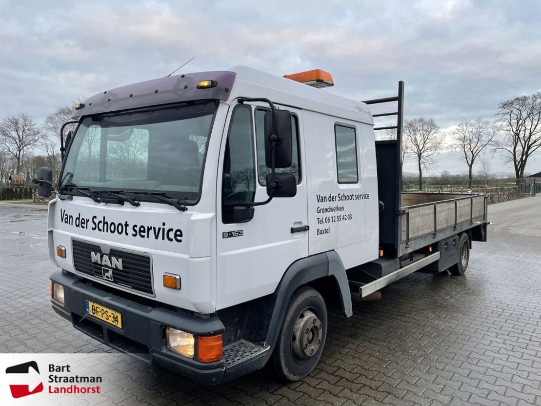 autotransporter vrachtwagen MAN 9 FL 1997