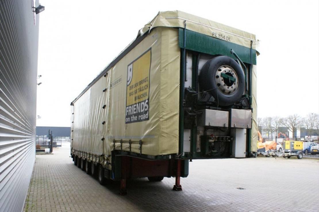 semi dieplader oplegger Meusburger MPG-6 - 2 Liftaxles - 3 Steering Axles - Widened till 6 Meter! 2012