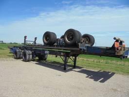 container chassis oplegger Netam-Fruehauf 40 FT gooseneck chassis Steel suspension 8 tyres 1989