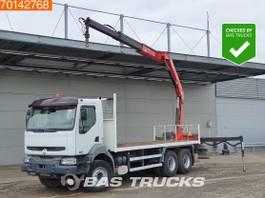 platform vrachtwagen Renault Kerax 370 6X4 Manual Big-Axle Euro 3 Fassi F150A.22 2005