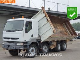 kipper vrachtwagen > 7.5 t Renault Kerax 420 8X4 Manual 2-Seiten Big-Axle Steelsuspension Euro 3 2002