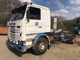 containersysteem vrachtwagen Scania R142 142M V8 **FRENCH TRUCK-FULL STEEL** 1982