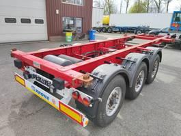 container chassis oplegger Krone SD 3-Assen BPW - Schijfremmen - Lift-as - 20FT (O555) 2014