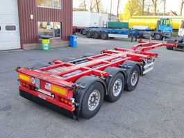 container chassis oplegger Pacton TXC.343 - Multi - SAF assen - Schijfremmen - Liftas - Stuuras (O548) 2010