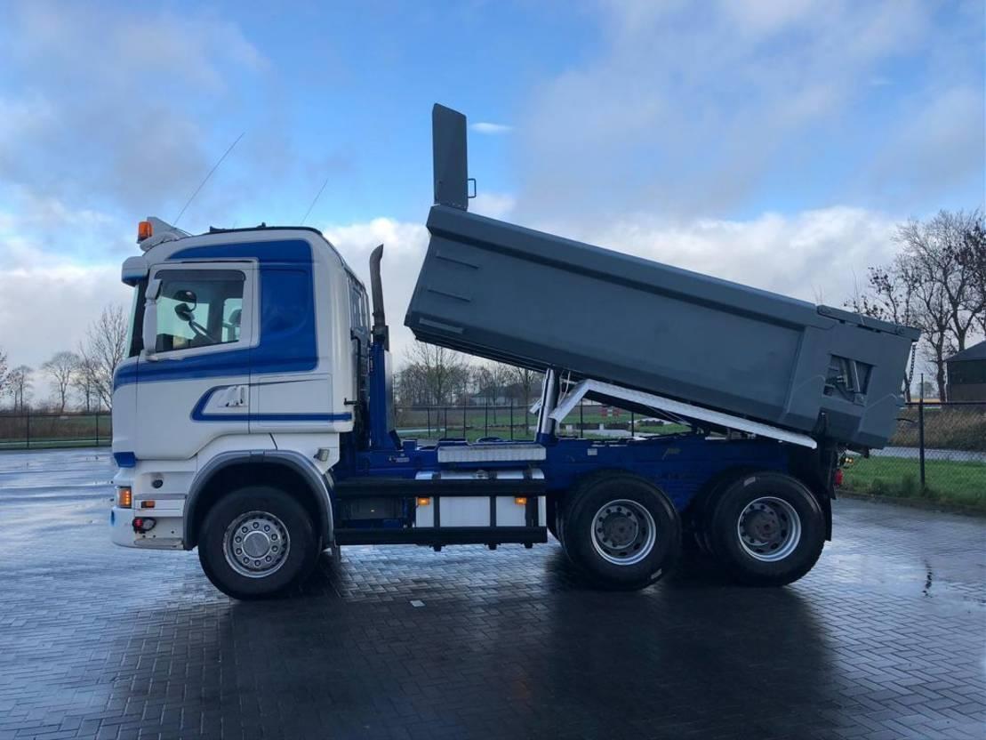 driezijdige kipper vrachtwagen Scania R520 6X4  RETARDER  EURO 6 MULDENKIPPER 2014