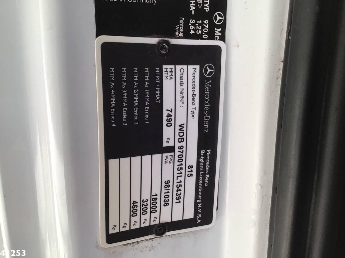 autotransporter vrachtwagen Mercedes-Benz Atego 815 Autotransporter met oprijplaten 2006