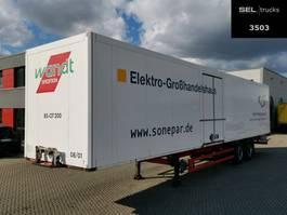 gesloten opbouw oplegger Schmitz Cargobull SKO 18 / 2 Achsen / Rolltor !