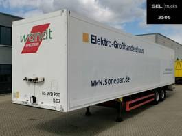 gesloten opbouw oplegger Schmitz Cargobull SKO 18 / 2 Achsen / Rolltor