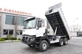 kipper vrachtwagen > 7.5 t Renault Kerax 480 , E6 , 6x4 , 80.000km , 3 way tipper , retarder , day 2018