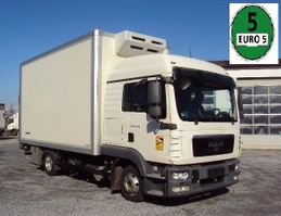 koelwagen vrachtwagen MAN TGL 8.180 Iso 5m Koffer Lbw Hochdach 2012