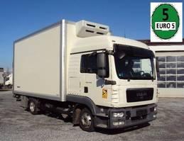 bakwagen vrachtwagen MAN TGL 8 .180 Iso 5m Koffer Lbw Hochdach 2012