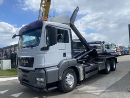 containersysteem vrachtwagen MAN TGS 26.440 6X4 MANUAL FULL STEEL + HOOKLIFT 2010
