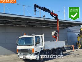 camion à plateforme DAF 65 CF240 4X2 Manual Steelsuspension Euro 2 Palfinger PK10500-A 2000