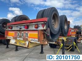 container chassis oplegger Fruehauf Skelet 20 ft 1991