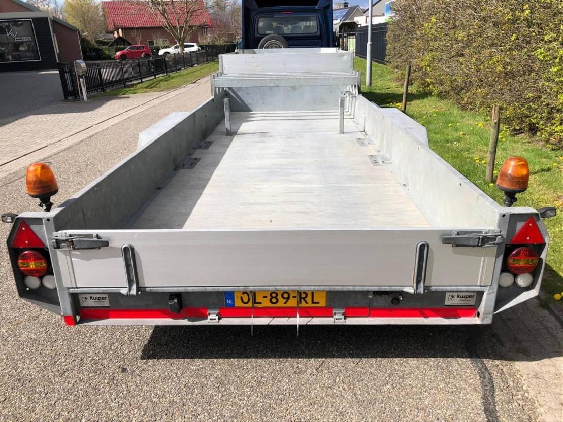semi dieplader oplegger kuiper BE oplegger - Dieplader 6710 kg laadvermogen 2012