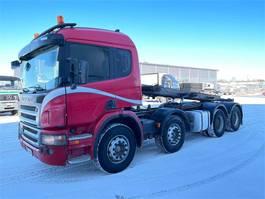 containersysteem vrachtwagen Scania P420 8x4 Juuri Katsastettu 2006