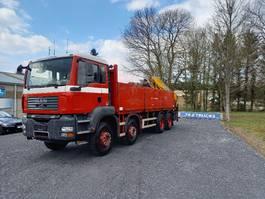 open laadbak vrachtwagen MAN TGS 33 TGA32.360 8x4 full steel +effer crane 210-3S