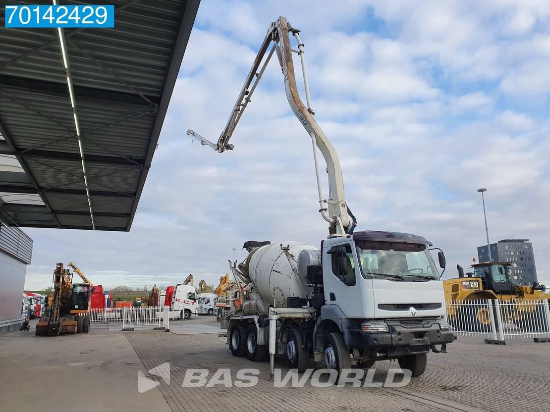 betonpomp vrachtwagen Renault Kerax 420 8X4 Manual Big-Axle Pumpe+Mixer Euro 3 2003