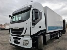 bakwagen vrachtwagen Iveco Stralis 460 460E6 6x2 Lenkachse Durchlader LBW 2015