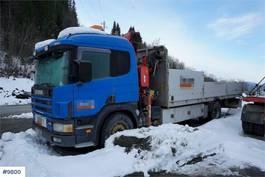 kraanwagen Scania P114 4x2 w/ Fassi 15 t/m 2003