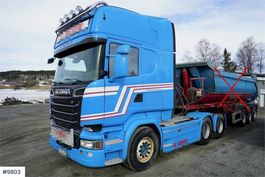 standaard trekker Scania R730 6x4 w / hydraulics 2014