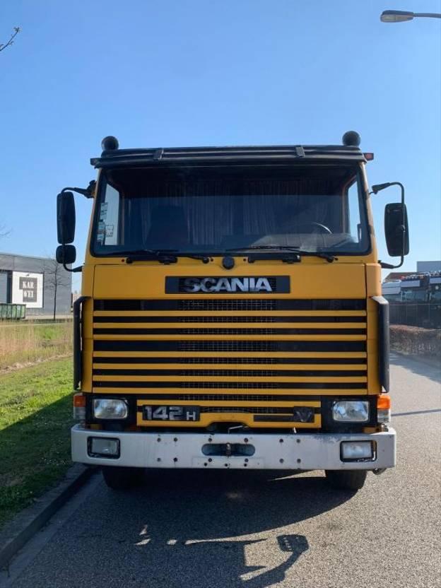 platform vrachtwagen Scania R142 Scania 142M 6x2 steel suspension intercooler 1987
