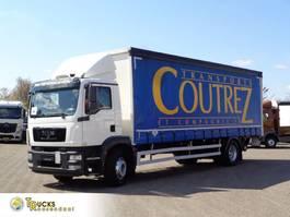 schuifzeil vrachtwagen MAN TGM 18 Euro 5 + Dhollandia Lift 2013