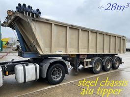 kipper oplegger Kaiser 28m³ - 3-axles BPW - ALU TIPPER / STEEL CHASSIS - BENNE ALU / CHASSIS ACIER - ALU KIPPER / STAAL CHASSIS - BE PAPERS - DRUM BRAKES / FREINS TAMBOURS 2005