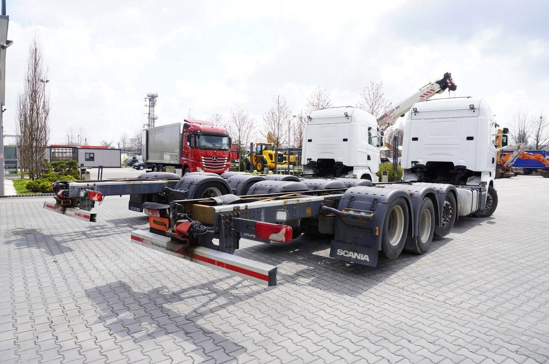 chassis cabine vrachtwagen Scania R490 , E6 , 8X2/4 , Tridem , chassis 9m , 2x lift axle , retarde 2014