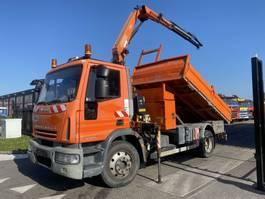 kipper vrachtwagen > 7.5 t Iveco EuroCargo 140 E18 4X2 MANUAL FULL STEEL + FASSI F80A.22 MET REMOTE 2007