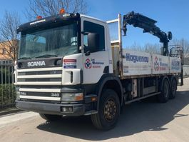 kraanwagen Scania P114 FULL STEEL SUSPENSION 6X4 HIAB CRANE 2002
