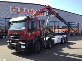 containersysteem vrachtwagen Iveco Stralis AD320S42 Euro 6 HMF 9 ton/meter laadkraan 2016