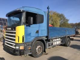 open laadbak vrachtwagen Scania R124 **MANUAL PUMP-POMPE MECANIQUE-SIDEBOARDS** 1998
