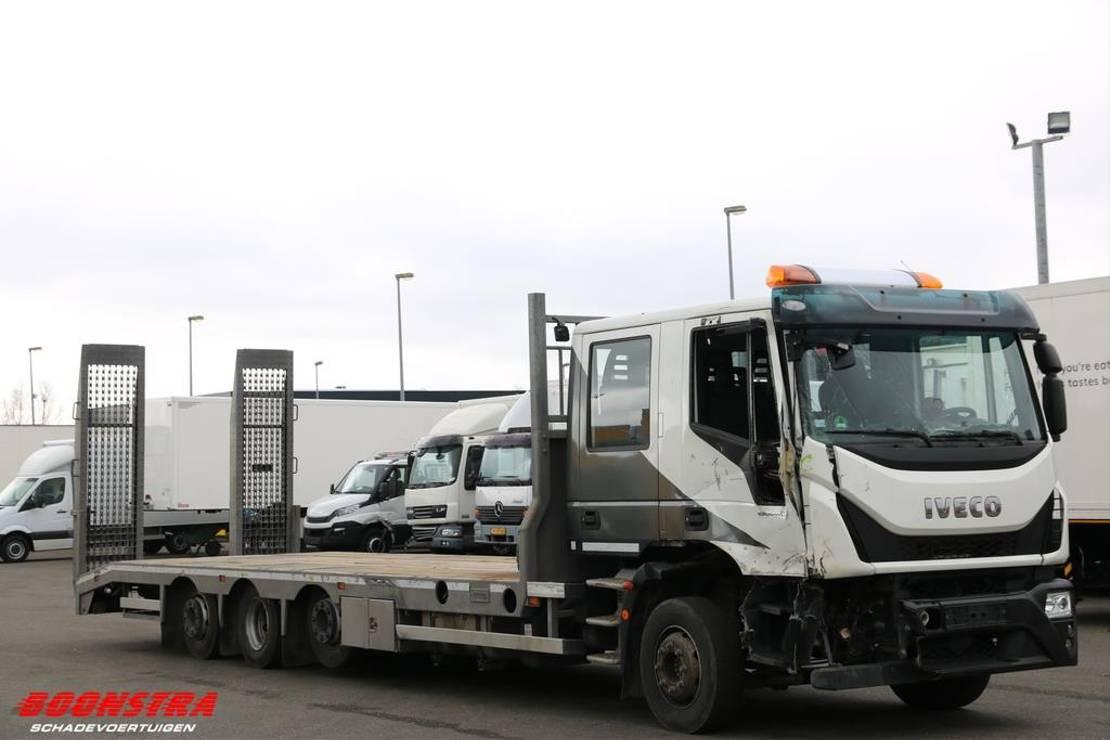 autotransporter vrachtwagen Iveco 300E32 DC DoKa Machinetransport 30t. Euro 6 2017