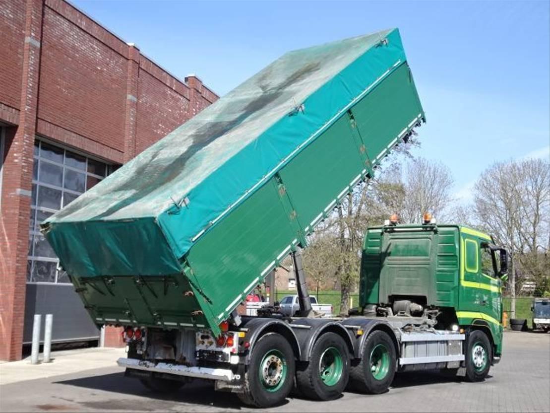 driezijdige kipper vrachtwagen Volvo FH460 8x4*4  3 Site Tipper 33m3 2012